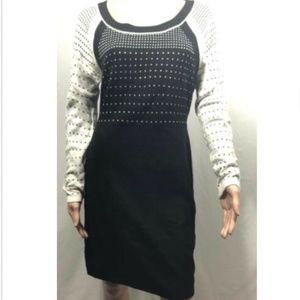 Ivanka Trump Women's Knitted Black Sweater Dress M